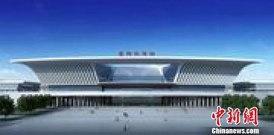 襄阳高铁站效果图。受访单位提供