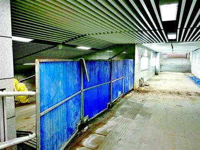 武汉一地下通道修了5年还没开通 建设方称下月交付