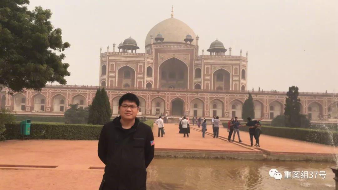 2017年,刘福应在印度。 受访者供图