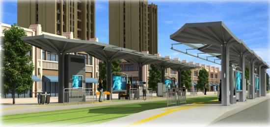 车站效果图——取源黄石生态城市元素
