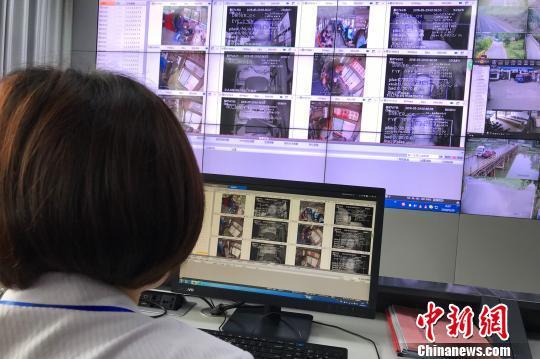 远安自主建设的4G智能动态监控平台 董晓斌 摄