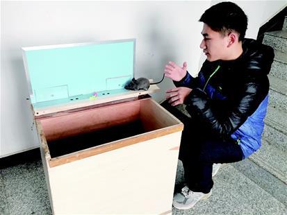 武汉高中生发明捕鼠神器登上央视 获世界金奖(视频)