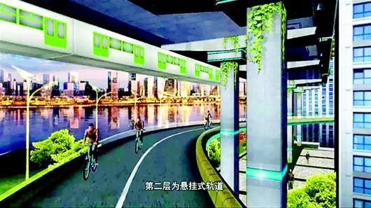 楚天都市报讯 图为:长江两岸将分五个层次建设