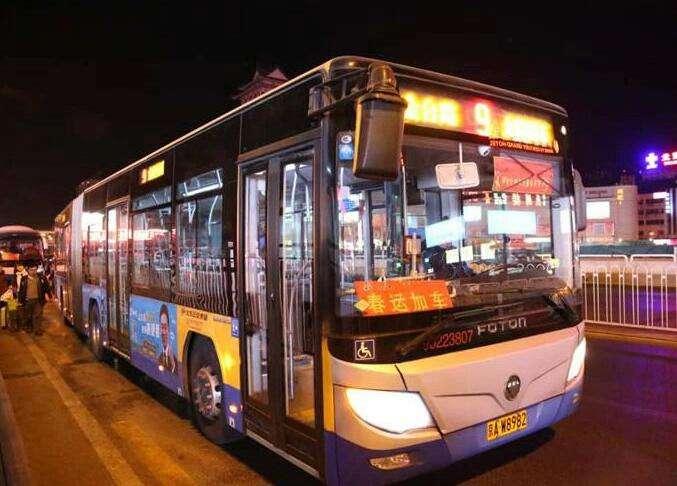 武汉公交多措并举保春运畅通 增加车次延时收班