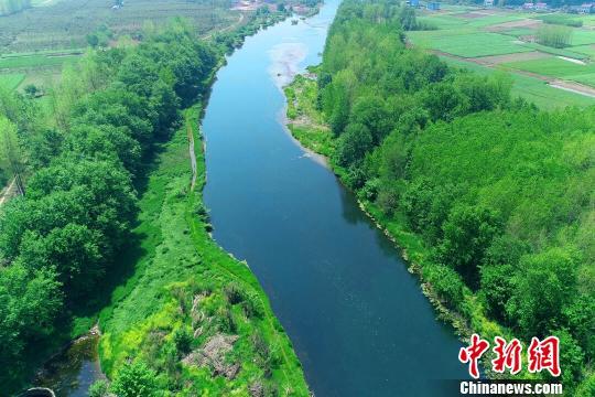湖北远安沮河国家湿地公园风景优美 远安林业局 供图 摄