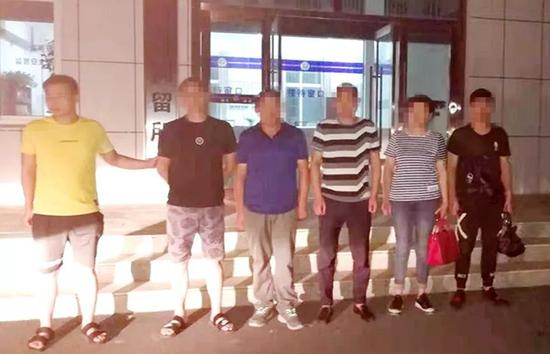 5名违法嫌疑人被警方处以行政拘留。图片来源:荆门警事