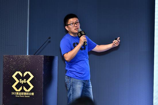 新浪体育赛事运营总监刘荑瑟在会上介绍3X3黄金联赛4年发展和规模的扩大
