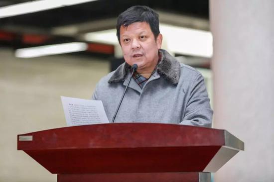 长江文明馆(武汉自然博物馆)党委书记吴涛主持启动仪式