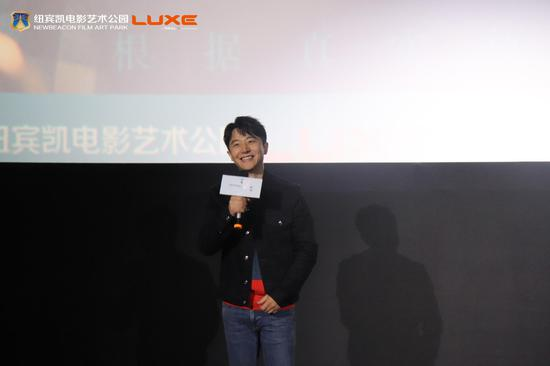 黄轩在武汉中南纽宾凯电影艺术公园