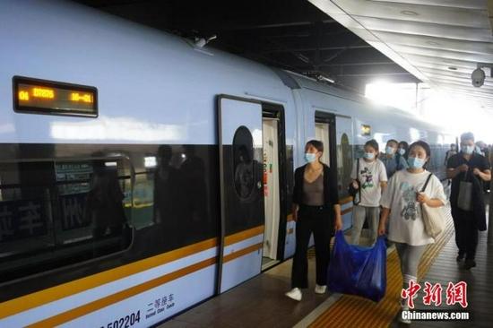 10月7日全国铁路预计发送旅客1350万人次
