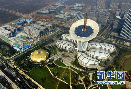 图为位于武汉光谷的武汉未来科技城(2016年12月8日摄)。 新华社记者 程敏 摄