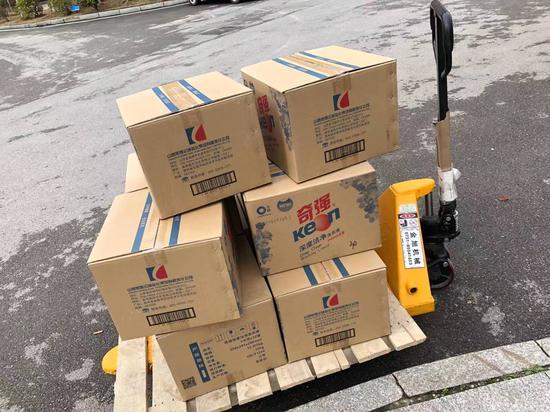 东湖高新长沙园区企业捐赠的部分物资
