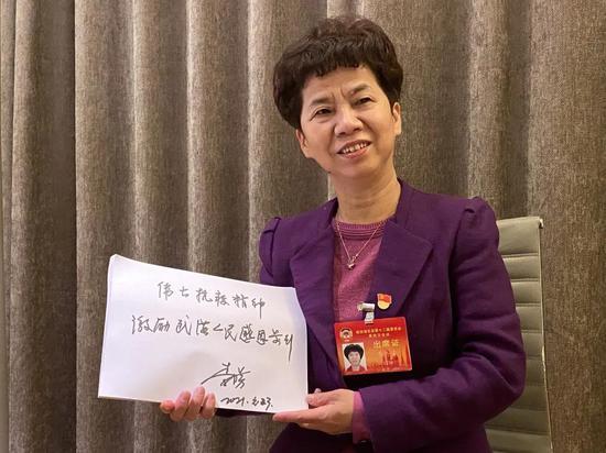 省政协委员、武汉市委第五巡察组组长李丹芳(湖北日报全媒记者 曾雅青 摄)