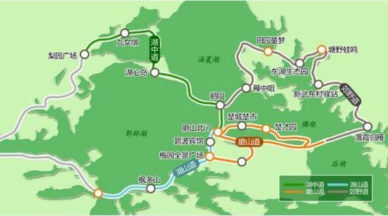 武汉东湖绿道工程正式动工 全长28.7公里WiFi全覆盖图片