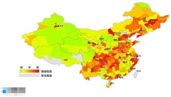 2015全国堵城排行榜公布 武汉没进十强(图)