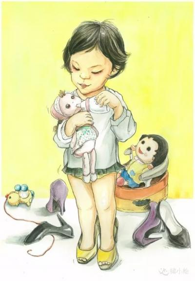 武汉辣妈手绘女儿成长日记 用画笔颠覆童话故事(图)