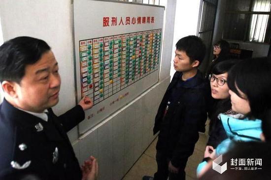 2015年11月13日,华中科技大学法学院师生参观洪山监狱。图/洪山监狱 朱梦迪
