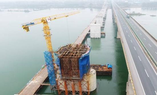 蒙华铁路汉江特大桥