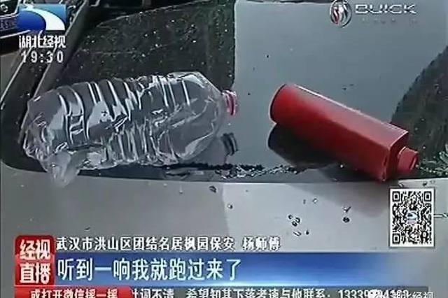 武汉这个小区太闹心 宝马奔驰相继被高空抛物砸