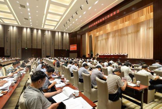 2017年7月13日,武汉市召开文明城市建设工作部署会。长江日报记者 周超 摄