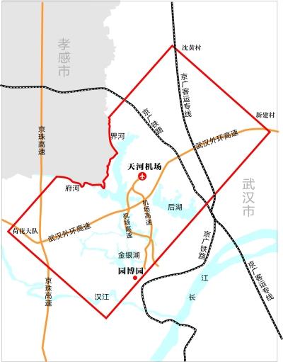 我市净空保护区范围线     制图 刘岩