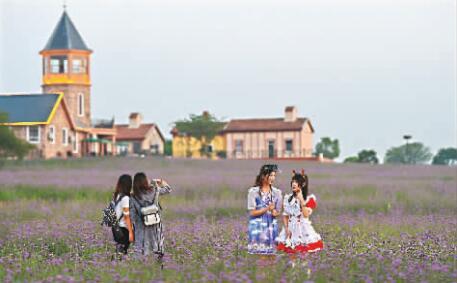 9月16日,首座网红小镇亮相武汉。这座艺术小镇坐落于蔡甸区的武汉花博汇,有超过100名国内外知名网红主播入驻 记者许魏巍 摄