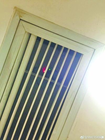 男厕内的信号灯 网友供图