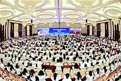9月17日,第三批百万校友资智回汉·中南财经政法大学专场举行 记者郭良朔 摄