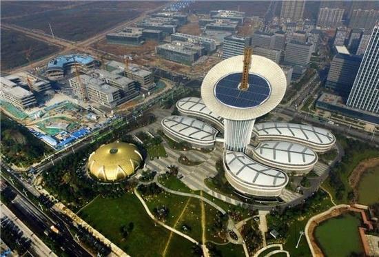 武汉东湖高新区六大园区之一的武汉未来科技城(新华社记者 程敏摄)