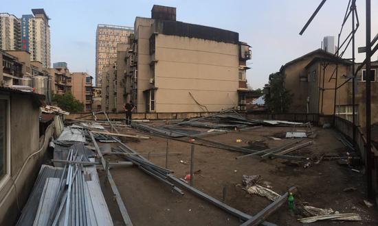 违建房屋被拆除