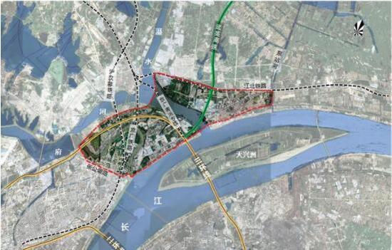 长江新城起步区范围示意图