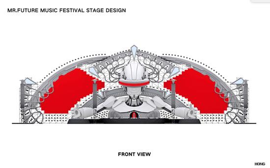 音乐节舞台造型