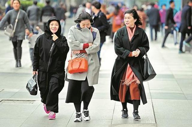 八级大风吹来冬滋味 武汉昨降温6-7℃今天会更冷