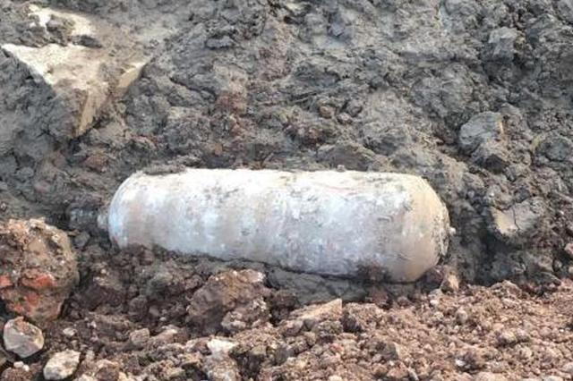 黄石挖出150公斤航空炸弹 威力相当于200斤TNT炸药