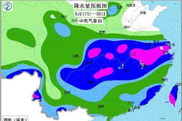 全国各地强降雨轮番来袭 长江中下游进入降雨集中期