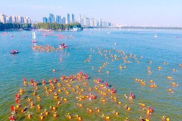 东湖水域水温已达33℃以上 2018年武汉水上马拉松延期