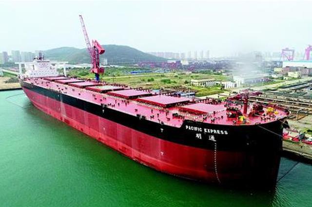 武船半年内交付3艘超大型船舶 比美国航空母舰还长