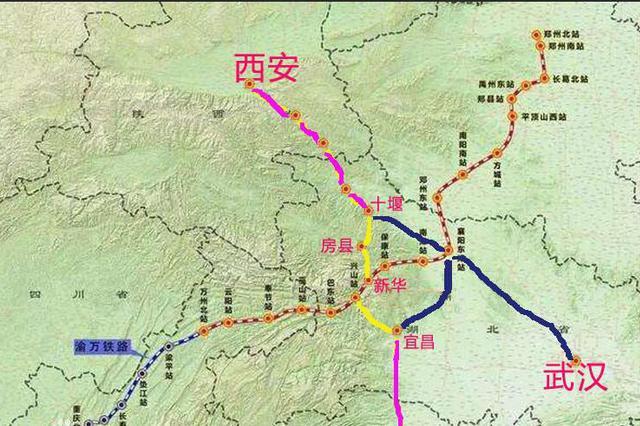 宜昌至郑万铁路联络线接入兴山 计划今年开工