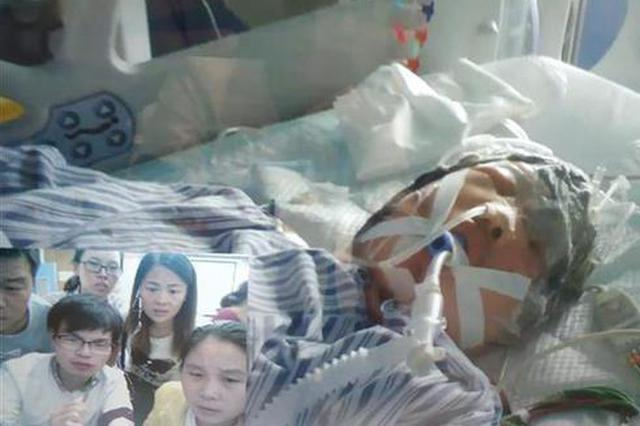 湖北29岁农妇头发卷入收割机 整个头皮被生生撕扯下