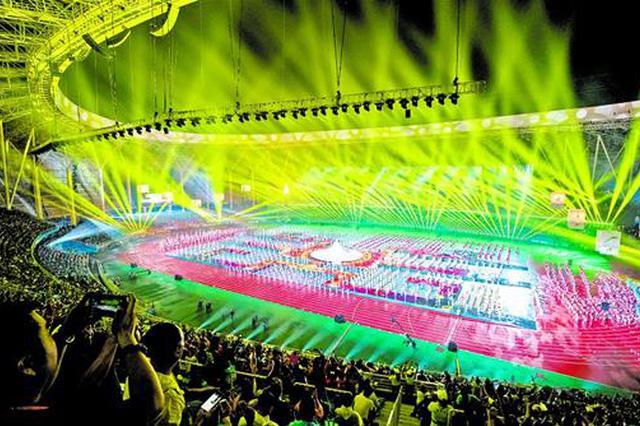 湖北省第十五届运动会昨日在黄石开幕
