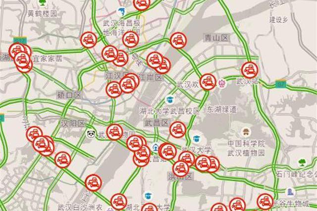 武汉本周拥堵指数明显下降 下周预计周五最堵