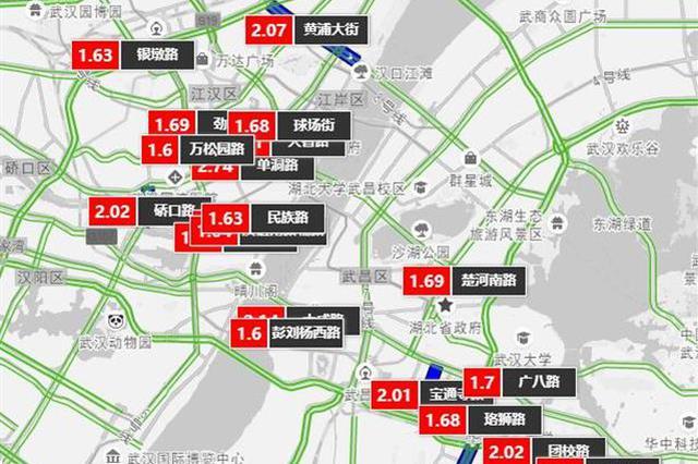 武汉本周出行量下降拥堵指数回落 下周预计周五最堵