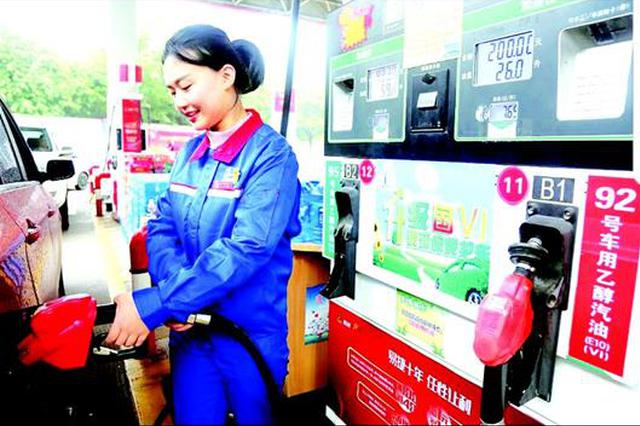 升级不加价 湖北的中石化加油站开售国VI汽柴油