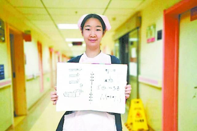 聋哑患者不识字不会手语 90后美小护手绘暖心护理图