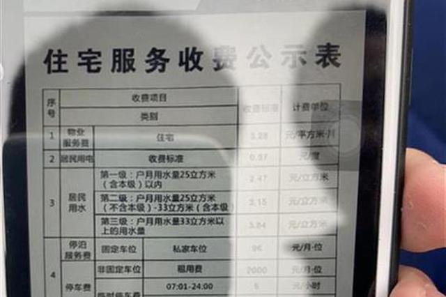 武汉一小区停车费2000元每月 物价部门约谈开发商