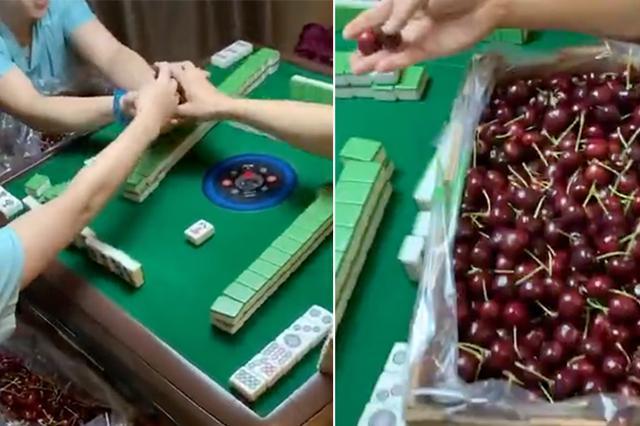 网友打麻将赌资竟是车厘子 小心把自己玩坏了