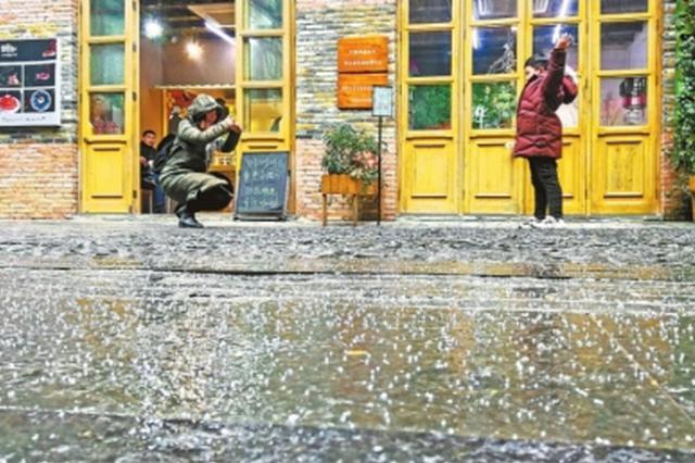 武汉昨天下的不是冰雹是冰粒 未来三天持续阴雨