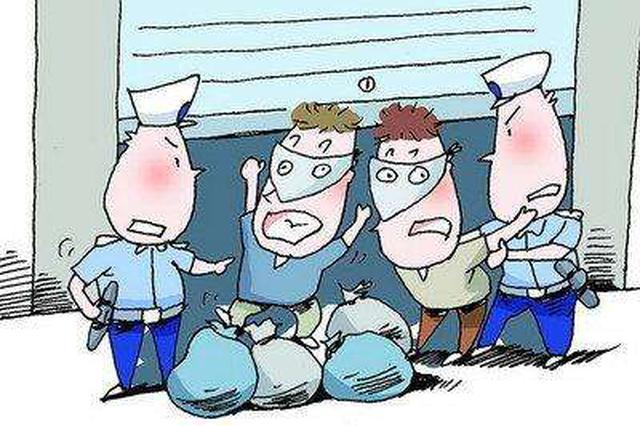 武汉四男子工地盗窃 刚分完赃就被一锅端