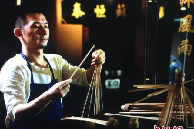"""武汉匠人10余年复兴老字号""""苏恒泰""""油纸伞"""