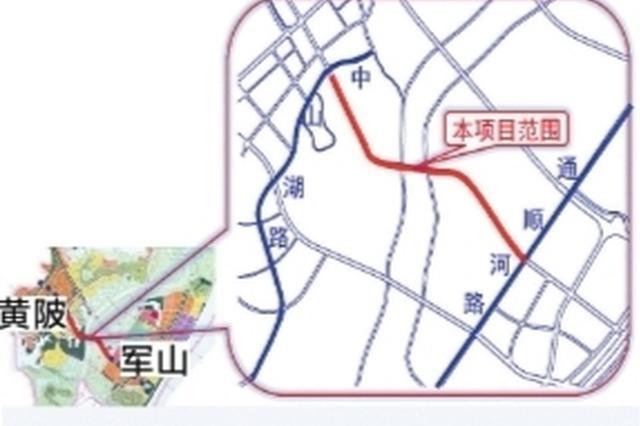 武汉开发区檀军公路大桥预计明年3月合龙